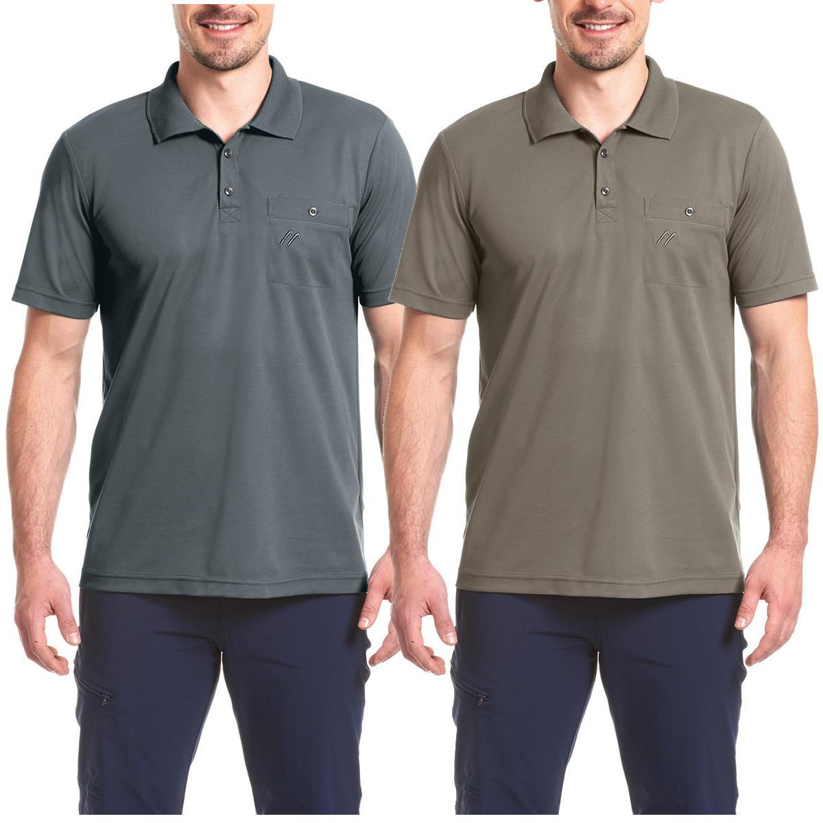Maier Arwin Herren Funktions-Polo-Shirt mit Brusttasche