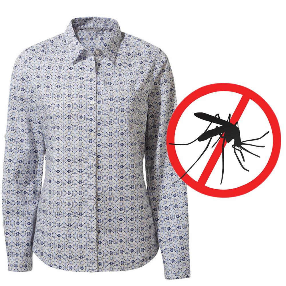 Craghoppers Damen Bluse Langarm Kiwi mit Mückenschutz