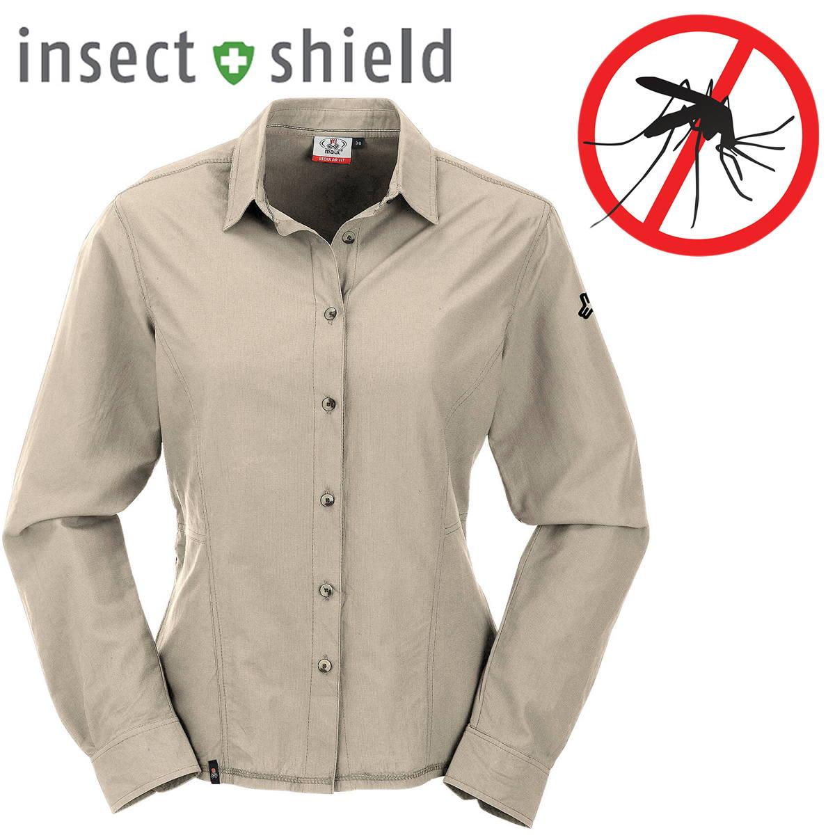 Maul Hochalm Damen Krempel-Bluse Langarm Insektenschutz