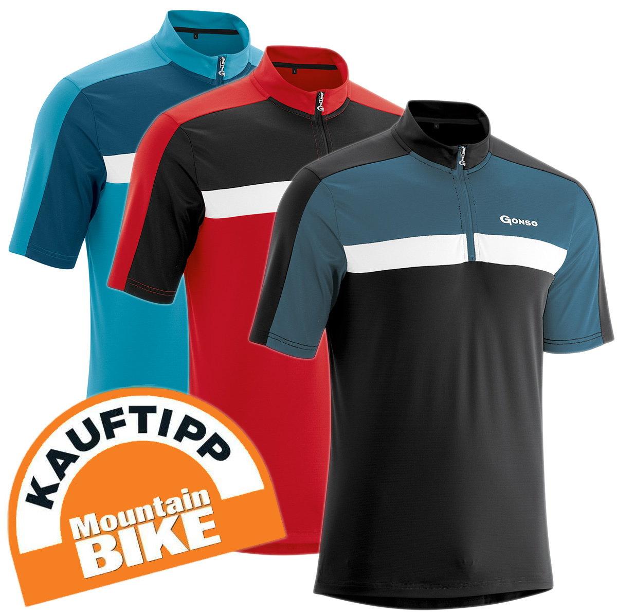 Gonso Gerd Herren Fahrrad Trikot Shirt - Alle Größen XXL-8XL