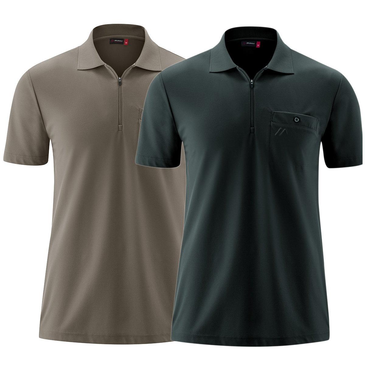 Maier Arwin II  Herren Funktions-Polo-Shirt mit Brusttasche