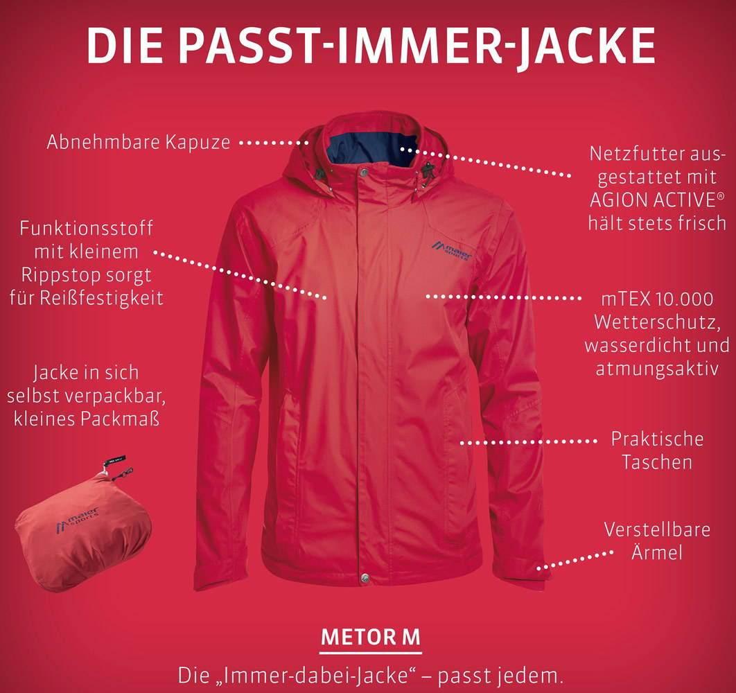 Maier Sports Tour Cycle Regenjacke Damen türkis im Online