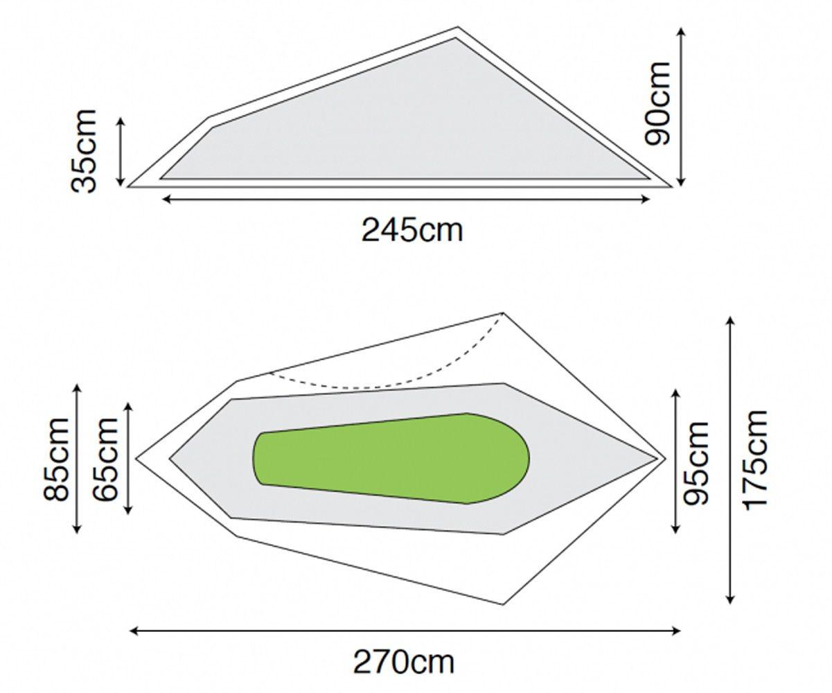 Schnellaufbau Zelt 1 Person : Solo person ein mann zelt kg kleines packmaß online