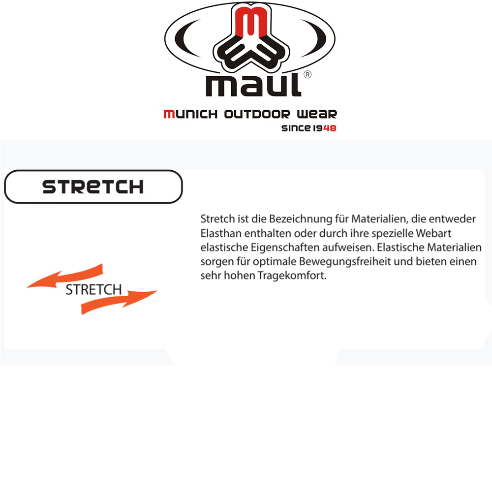Maul Onturio Herren Zip Hose STRETCH Kurz+Lang+Übergröße