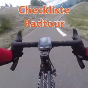 Radtour Checkliste