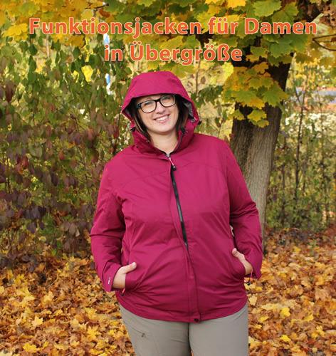 Funktionsjacken für Damen in Übergröße
