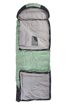 Deckenschlafsack geöffnet