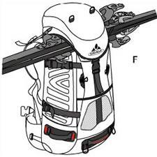 Ski Deckeltaschenfixierung