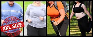 Sportbekleidung in Übergrößen